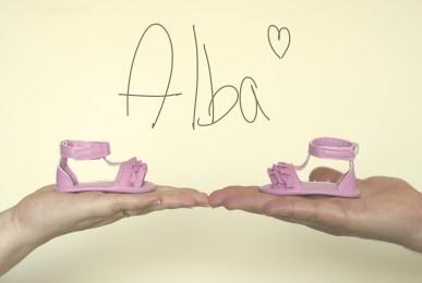 Alba y sus zapatos